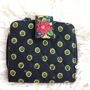 Vera Bradley Sunflower Small Fabric Wallet